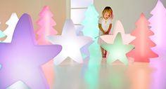 LUMENIO LED maxi Stern, 72x15/70 cm, 15 Farben multicolor, leuchtender Weihnachtsstern, Design-Leuchte, Farbwechsel, mit Fernbedienung: Amazon.de: Küche & Haushalt