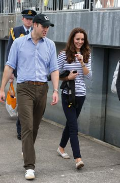 Kate Middleton wears Sebago.