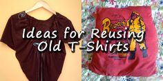 Three ideas for reusing old t-shirts from @evetterios .