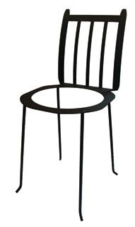 """Nothing says style like a clean lined, sturdy and decorative plant stand. This unique wrought iron plant stand is hand crafted for the finest quality and durability, then finished with a baked on black powder technique. This will go wonderfully in your western or rustic garden, yard and home.  Measures 11"""" W  x  25"""" H  x  12"""" D  13 1/2 In. diam. seat Holds a 10"""" In. pot. MADE IN THE USA! Lead free & rust resistant."""