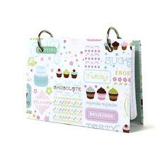 Sweet cupcake 3 x 5 index card recipe binder for the baker 329  | artbysunfire - Housewares on ArtFire