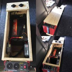 We call this the thunda box ! This. This is a fully interchangeable system. This system is easy to install as most of the professional work has been completed. This thunda box can be removed as a portable power supply and interchanged easily between vehicles. Includes *redarc BCDC charger*2 x USB outlets*1x cig socket*1x 6 outlet fuse box *600W pure sine wave inverter*carpeted or pine finishAll boxes can be custom ordered to suit. #vanlifediaries #vanlife #vanlifeideas #vans #vanconversions…