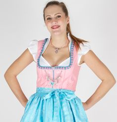 Dirndl-CountryLine-Rosa/Türkis #habe ich selbst auch #trägt sich unglaublich gut #wunderschön #Augenfang