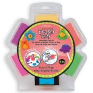 I love this stuff! You can make anything you want out of this clay. You bake it and then you have new erasers. Great for kids! They can take their creations to school and use them.