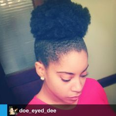 Natural Hair Daily, Beautiful mega puff @doe_eyed_dee! #naturalhair...