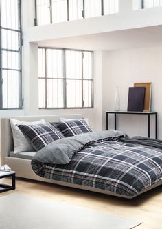 multicolored plaid bedding - bedding - bedroom | zara home united, Hause ideen