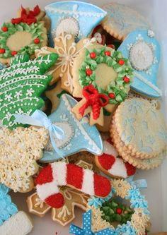 Galletas de Corona de Navidad usando la punta 352 - Las delicias del buen vivir