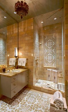 Skyline Penthouse - Guest Bath - Suzanne Lovell Inc.