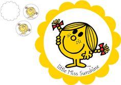 View Design: little miss sunshine cupcake topper