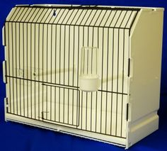 Plastic Display/Carry/Training Cage  Comes complete with feeder, one drinker and two perches 36cm long 17cm wide 30cm high Removable bottom tray and cages comes apart from easy cleaning Cage comes in kit from with main cage frame and the cage front just clips on Can be wall mounted