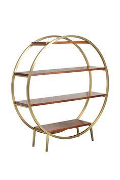 Ravello shelf unit – walnut and brass art deco – my furniture My Furniture, Luxury Furniture, Art Deco Decor, Living Room Shelves, Home Art, Shelving, New Homes, The Unit, Shelf