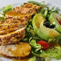 "Fab Summer Blackened Chicken Salad | ""This is perfect for summer. You can even buy cooked chicken if it's too hot to cook your own. This makes two large dinner portions."""