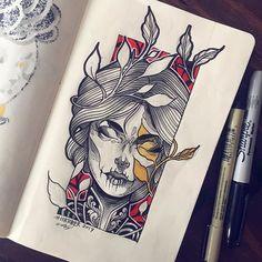 #inktober leaves. #sketch #tattoo #ink
