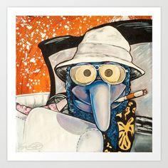 Fear & Loathing Gonzo Art Print by Kristal Serrano - $19.00