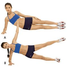 The abdominal muscles are arranged in a basket weave fashion and doing planks makes all of these muscles work together.  A strong core will also minimize lower back pain.  Plank exercises strengthens your arms and wrists, stretches and strengthens your spine and provides a sense of balance and stability.  When you want to increase the intensity when doing a side plank, do a side plank with a leg lift.