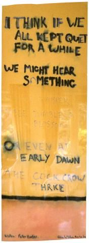 Colin McCahon, I think if we all kept quiet for a while, 1969, paper (conte crayon and wash) 1554 x 553 mm