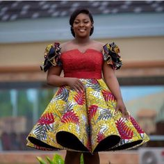 Pretty and Stunning Ankara Short Gown Styles 2019 Ankara Dresses Ankara Short Gown Styles, Short African Dresses, Short Gowns, Latest African Fashion Dresses, African Print Fashion, Africa Fashion, African Clothes, Ankara Fashion, African Prints
