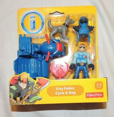 NEW Fisher Price Imaginext City Police Cycle, Dog Rescue City, Cop, Motorcycle #FisherPrice