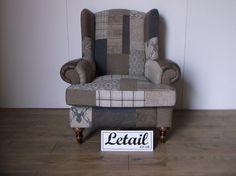 Alpine Chair Patchwork High Back Wing Ls5011 | eBay