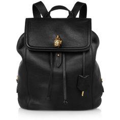 Alexander McQueen Padlock skull-embellished textured-leather backpack (7.425 BRL) ❤ liked on Polyvore featuring bags, backpacks, accessories, bolsas, purses, black, backpacks bags, day pack backpack, knapsack bags and rucksack bag