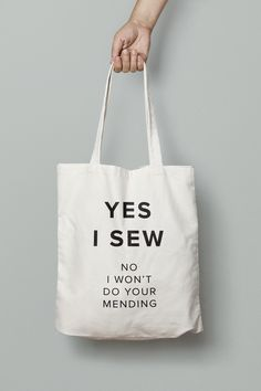 Yes I Sew tote bag from Megan Nielsen