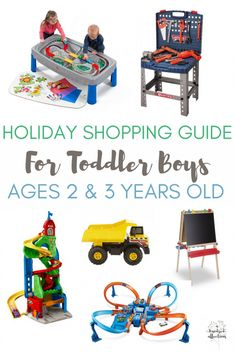 Holiday Gift Guide for Toddler Boys, Ages 2 & 3. These gifts have been toddler tested and approved, perfect for the 'all boy' toddler! #Christmas #giftguide #toddler #boy
