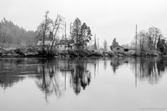 Abandoned Houses Along the Chehalis River, Montesano, Washington, 2015 | Click the picture above for information on purchasing a fine art photography wall print for your home. | #blackandwhite #rural