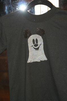 freezer paper stencil Mickey Mouse ghost