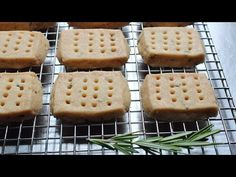 Food Wishes Video Recipes: Rosemary Shortbread Cookies. I think I'd actually like lavender or something instead of rosemary Rosemary Shortbread Cookies, Buttery Cookies, Strawberry Ice Cream Sandwich, Cookies Light, Russian Tea Cake, Food Wishes, Most Delicious Recipe, Coconut Macaroons, Tea Cakes