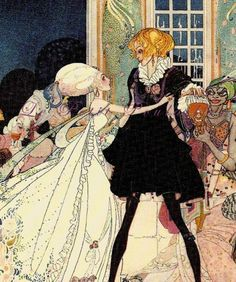 Illustration by Kay Nielsen for The Twelve Dancing Princesses, a tale that featured in the book Powder and Crinoline. Kunst Inspo, Art Inspo, Art And Illustration, Fantasy Kunst, Fantasy Art, Fairytale Art, Objet D'art, Pretty Art, Aesthetic Art