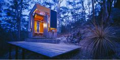 The Zig Zag Cabin was built and designed by Australian architect Drew Heath- originally as a mere sketch on a beer coaster (I can relate- my entire Vermont cabin's plans amount to a doodle on…
