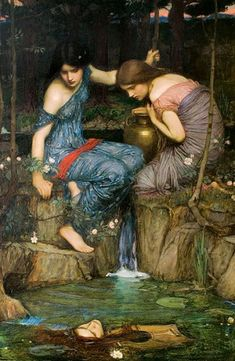 """Nymphes trouvant la tête d'Orphée', John-William Waterhouse, 1900"