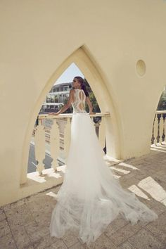 Hadas Cohen Summer Bridal Wear Collection is the Israeli fashion designer bridal gowns collection which brides can wear on summer weddings to look great and stunning. 2016 Wedding Dresses, Princess Wedding Dresses, Designer Wedding Dresses, Wedding Gowns, Fit And Flare Wedding Dress, Boho Wedding Dress, Bridal Collection, Bridal Style, Bridal Gowns
