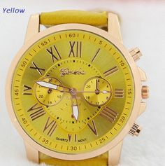 Women's Geneva Roman Numerals Watch 15 Colors Available