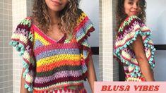 Crochet Tunic Pattern, Crochet Tank, Knit Crochet, Crochet Clothes, Diy Clothes, Crochet Projects, Summer Outfits, Crop Tops, Knitting