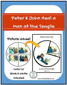 Peter heals a lame man triorama bible craft beautiful for Peter and john heal the lame man coloring page