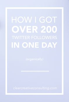 Take a peek at the strategies I used that got me over 200 Twitter followers in a single day without paying or spamming. Social media marketing strategies for Twitter
