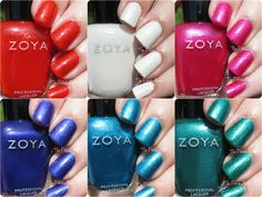 Zoya Summer 2015 Paradise Sun Collection Swatches