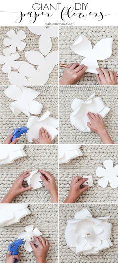 Diy giant paper flowers tutorial diy paper elegant and tutorials diy giant paper flowers tutorial mightylinksfo Gallery