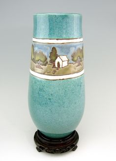 Cuerda seca vase by Sarah Moore, Sassafrass Pottery 2008
