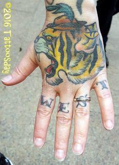 Tattoosday (A Tattoo Blog): Natalie's Midwest Tiger  http://tattoosday.blogspot.com/2016/03/natalies-midwest-tiger.html