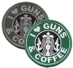 I Love Guns And Coffee Patch - Ryan's Daughters