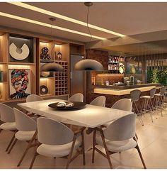Projeto de um Lounge Bar por @lsaarquitetura ❤️ Moderno, sofisticado e lindo ao mesmo tempo!! Amei ❤️❤️❤️