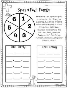 math worksheet : fact families facts and families on pinterest : Math Fact Families Worksheets 2nd Grade