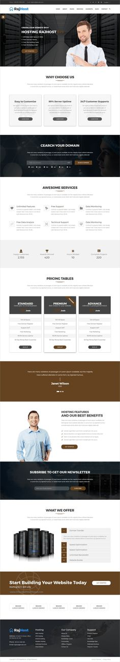 RajHost is a wonderful 3in1 responsive #HTML5 bootstrap template for web #hosting and #technology company websites download now➩  https://themeforest.net/item/rajhost-web-hosting-with-whmcs-html-template/19279486?ref=Datasata