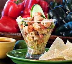 Shrimp ceviche is a great meal to make if the day is hot. It is often made with red snapper but you can also use shrimp to make a Mexican shrimp ceviche recipe.