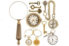 Check out Golden Vintage Accessories by LiliGraphie on Creative Market
