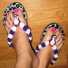 Crochet Parfait: Penguin Flip Flops