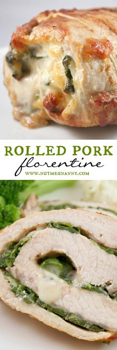 This rolled pork florentine might look hard to pull off but it's super simple. Fresh pork is stuffed with provolone cheese and sautéed spinach, what's not to love?