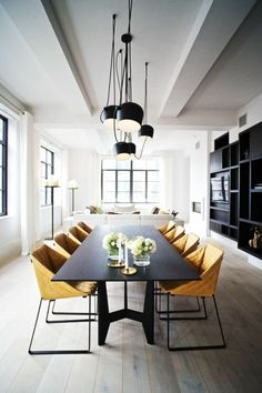 46 Ways to Use Modern Dining Room Interior Design Interior Design Minimalist, Room Interior Design, Dining Room Design, Modern Design, Interior Ideas, Creative Design, Industrial Dining, Industrial Bedroom, Industrial Interiors